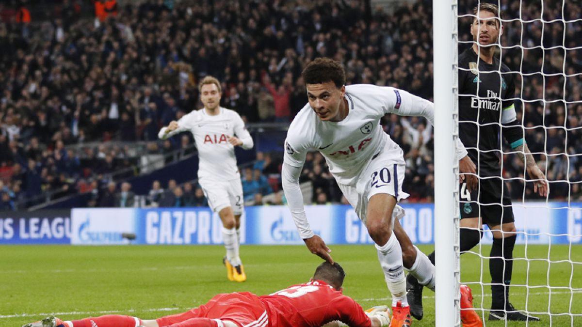 Tottenham vence al Real Madrid para clasificar y Sevilla revive en Champions League