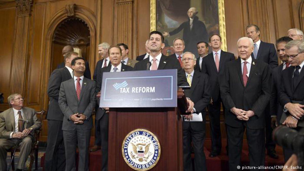 Republicanos presentan ambiciosa reforma fiscal de Trump