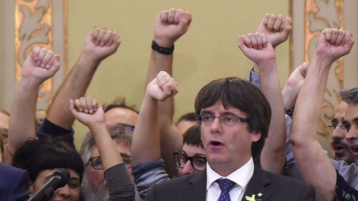 """Puigdemont: Las elecciones deben """"ratificar"""" la voluntad de Cataluña de ser independiente"""