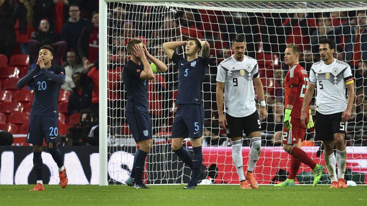 Inglaterra y Alemania firman empate en el clásico del fútbol europeo