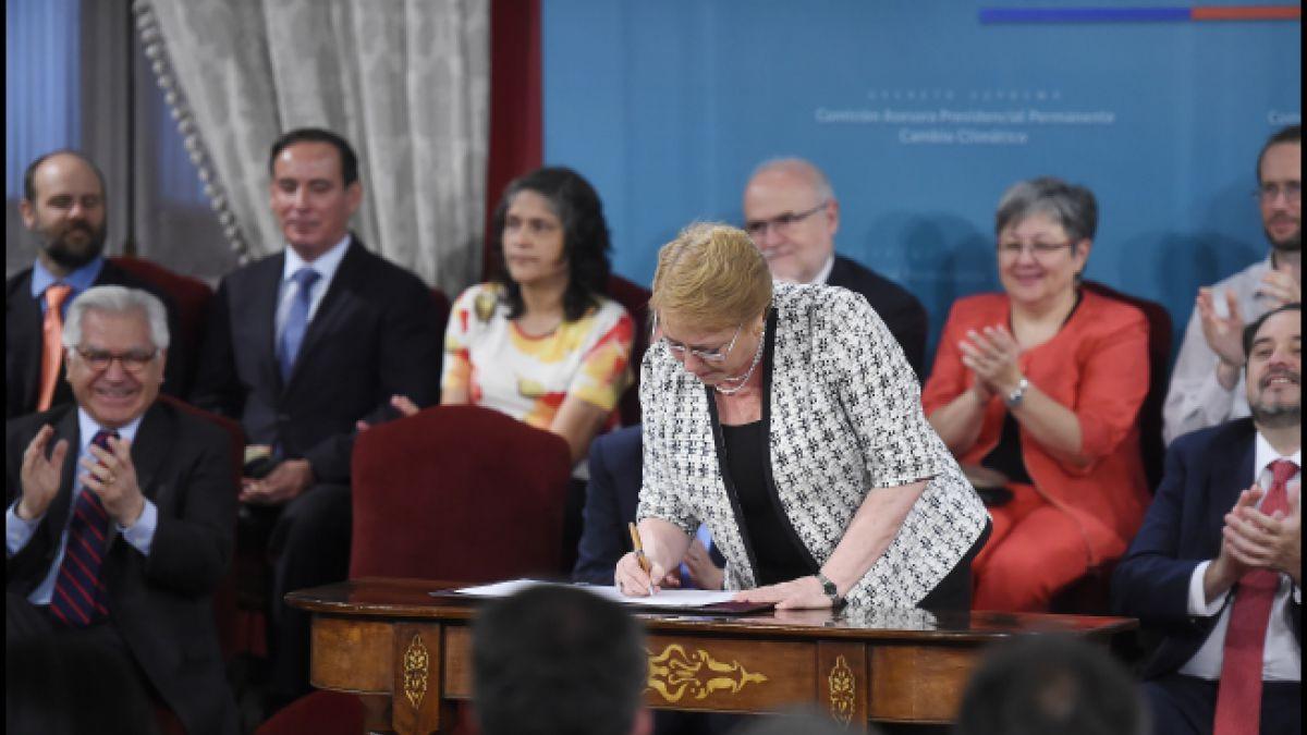 Bachelet presenta nueva Comisión Asesora para el Cambio Climático