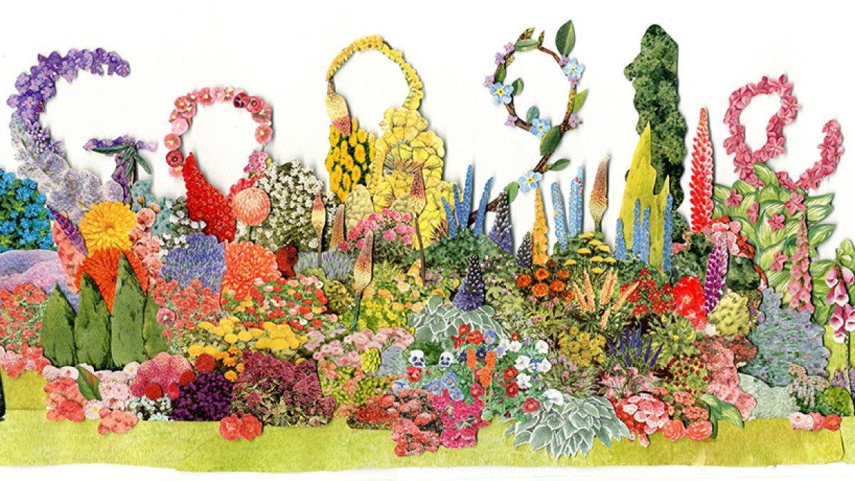 Doodle de Google recuerda a la prestigiosa paisajista Gertrude Jekyll