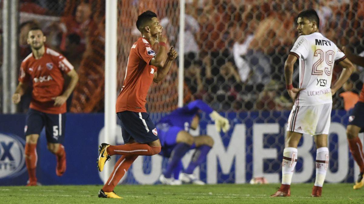 Independiente da el primer golpe ante Flamengo en la final de Copa Sudamericana
