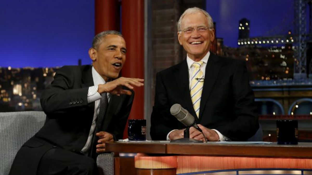 Abrirá con Obama show de Letterman