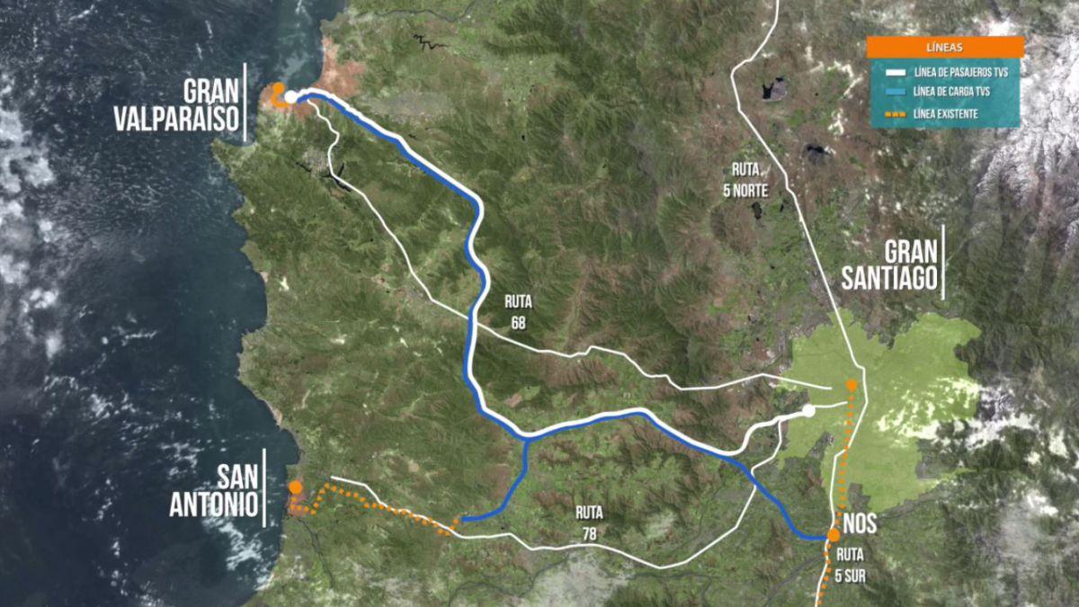 ¿Es viable un tren rápido entre Santiago y Valparaíso?