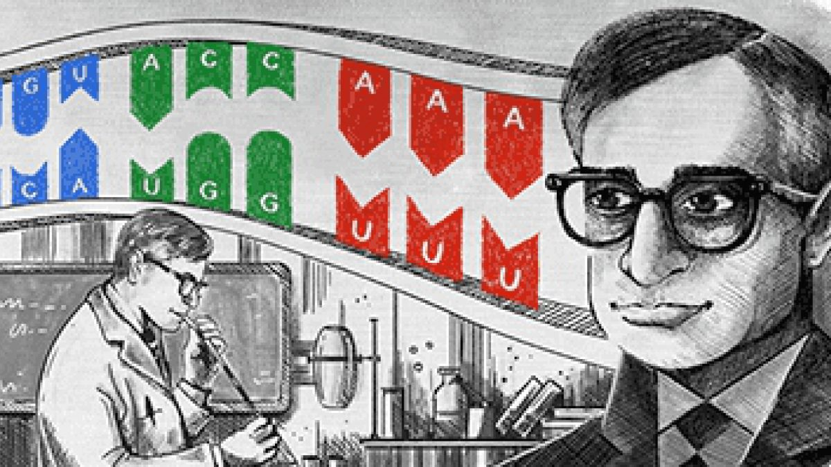 Google celebra a Har Gobind Khorana intérprete del código genético
