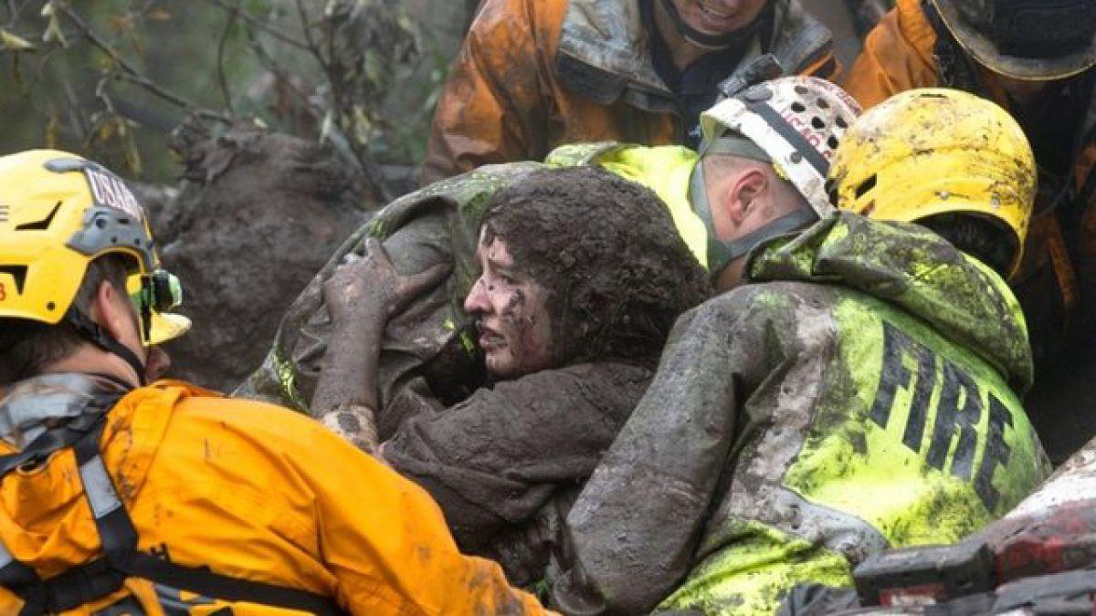 Las impresionantes imágenes de los deslaves que dejaron al menos 13 muertos en el sur de California