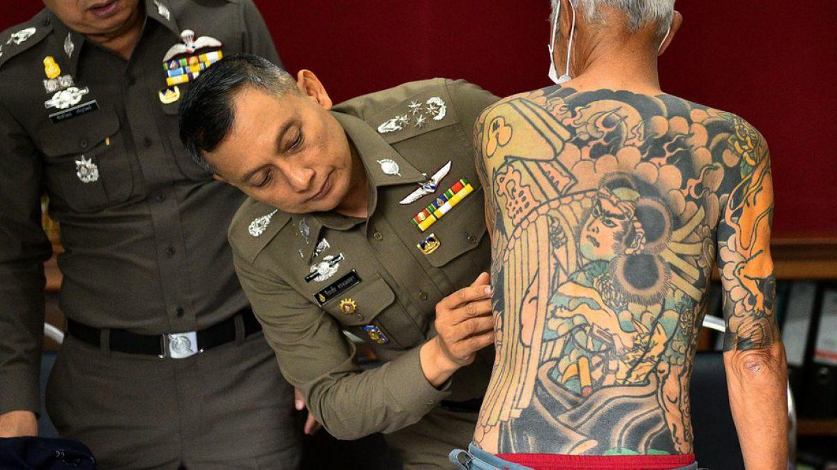 Esta foto viral y sus tatuajes lograron arresto de jefe yakuza