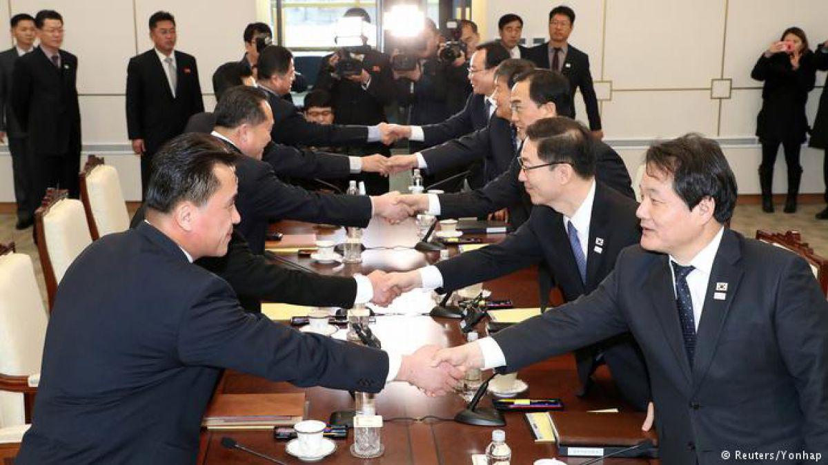 Las dos Coreas inician reunión sobre los JJOO de PyeongChang