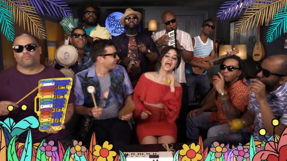 Camila Cabello y Jimmy Fallon cantan Havana con instrumentos de juguete
