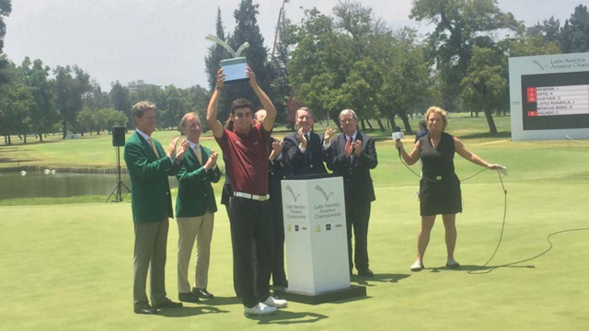 Golfista chileno Joaquín Niemann se consagra campeón del Latin America Amateur Championship