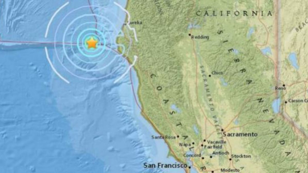 Se registra un sismo 5,8 en la costa de California
