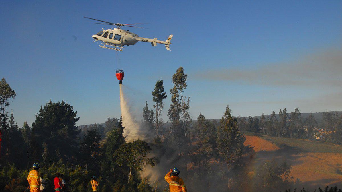 Tres focos activos en La Araucanía — Incendios forestales