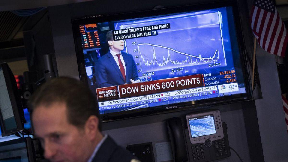 El Dow Jones cae 4,6% en una caótica sesión de Wall Street
