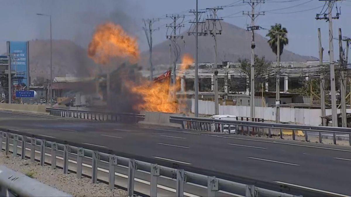 Fuga de gas causa cierre en la Ruta 5 Norte