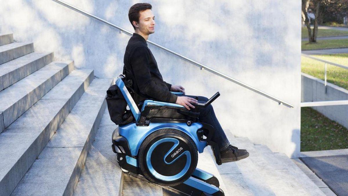 La revolucionaria silla de ruedas capaz de subir escaleras for Silla de ruedas para subir escaleras