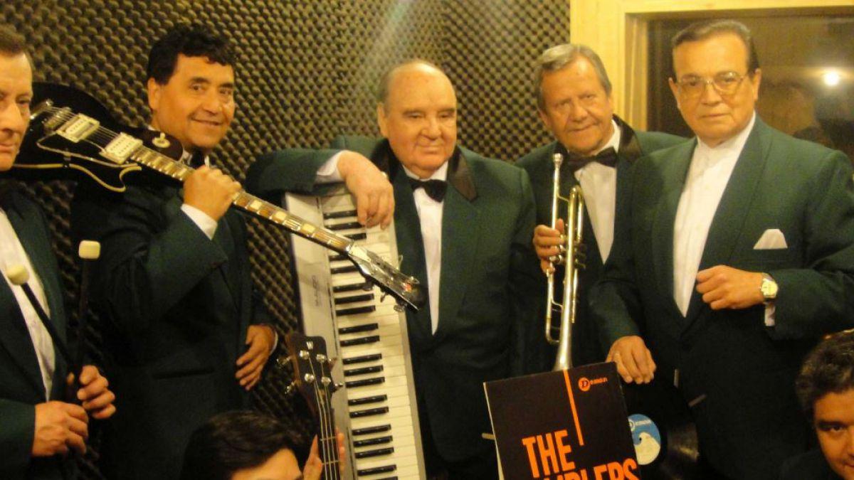 Jorge Rojas (al medio en la imagen, junto al teclado) ha fallecido este martes