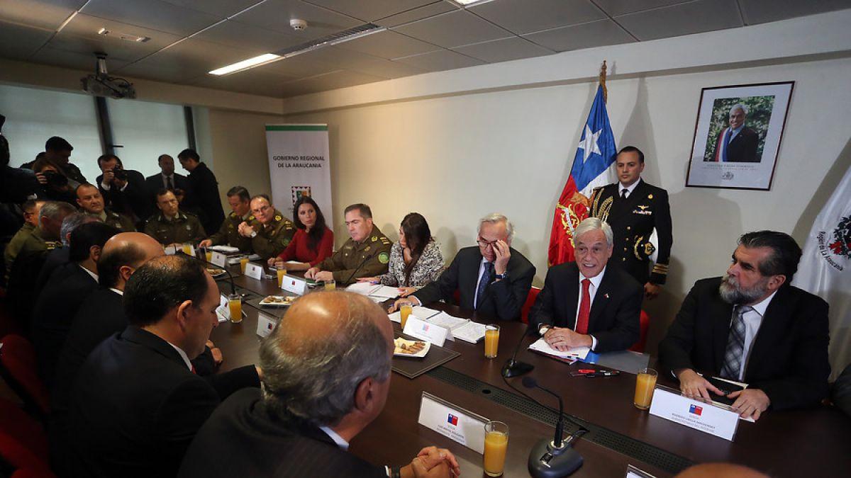 Sebastián Piñera firma en Temuco indicación para reformular la Ley Antiterrorista