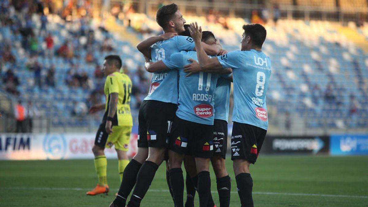 O'Higgins golea a San Luis que terminó con nueve jugadores en Rancagua