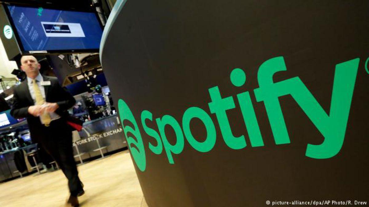 Buen debut bursátil de Spotify en Nueva York