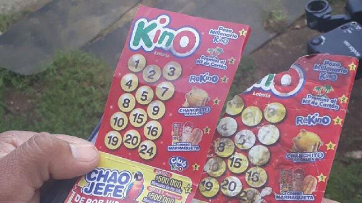 Caso del Kino que estaba en la basura: Lotería aclara que cartón no tenía ningún código de seguridad