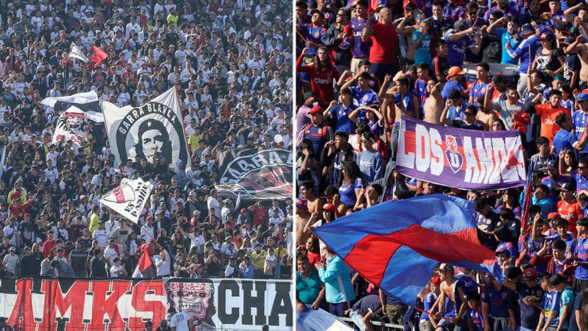 [FOTOS y VIDEO] Las postales del banderazo y el arengazo a horas del Superclásico del fútbol chileno