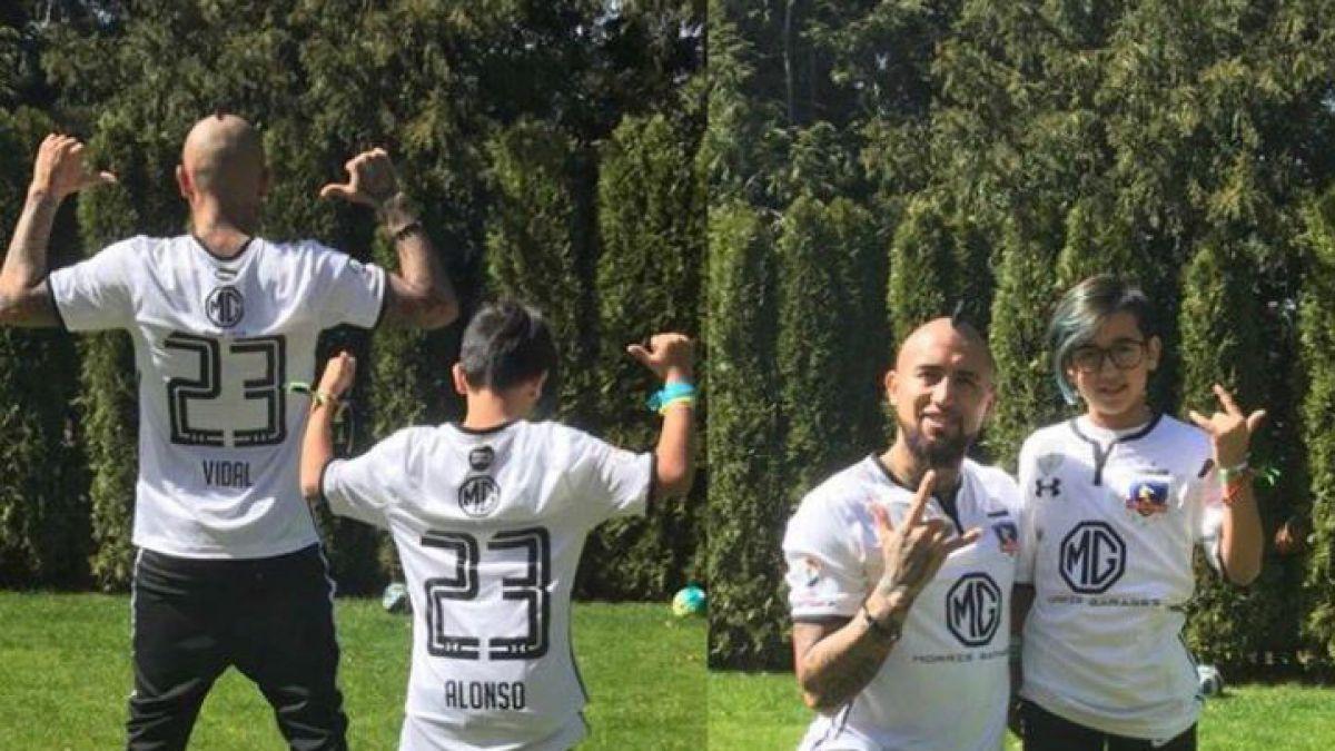 La divertida celebración de Arturo Vidal tras el triunfo de Colo Colo sobre la U