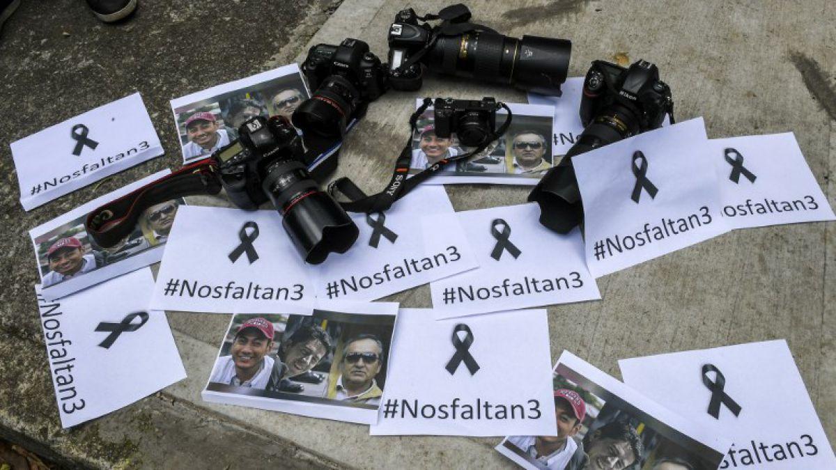 [VIDEO] Grupo disidente de las FARC suspende entrega de cuerpos de periodistas asesinados