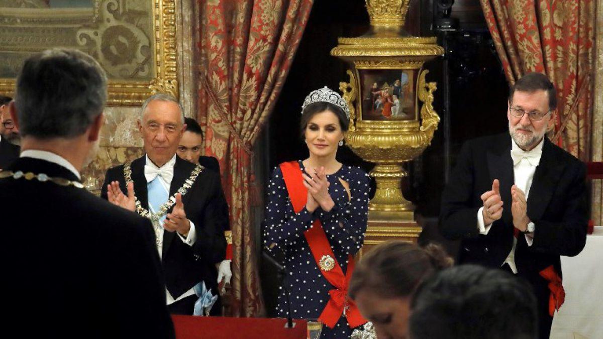 El vestido que le jugó una mala pasada a la reina Letizia