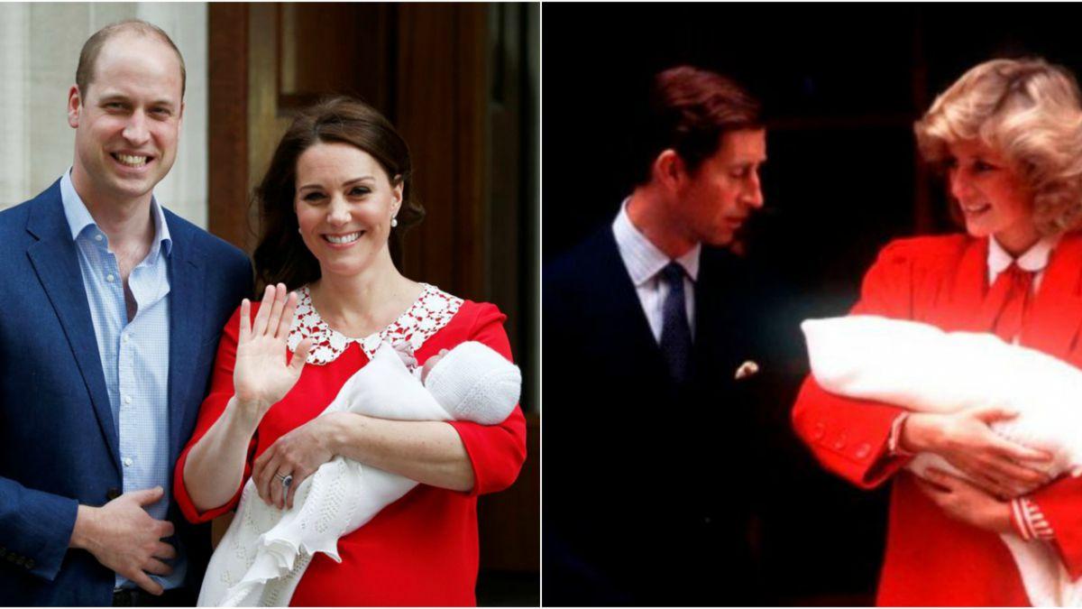 Los duques de Cambridge en 2018 y los príncipes de Gales en 1984.