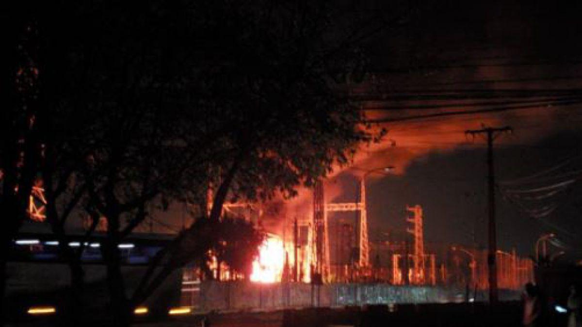 Incendio afecta a subestación eléctrica y varias comunas están sin energía — RANCAGUA