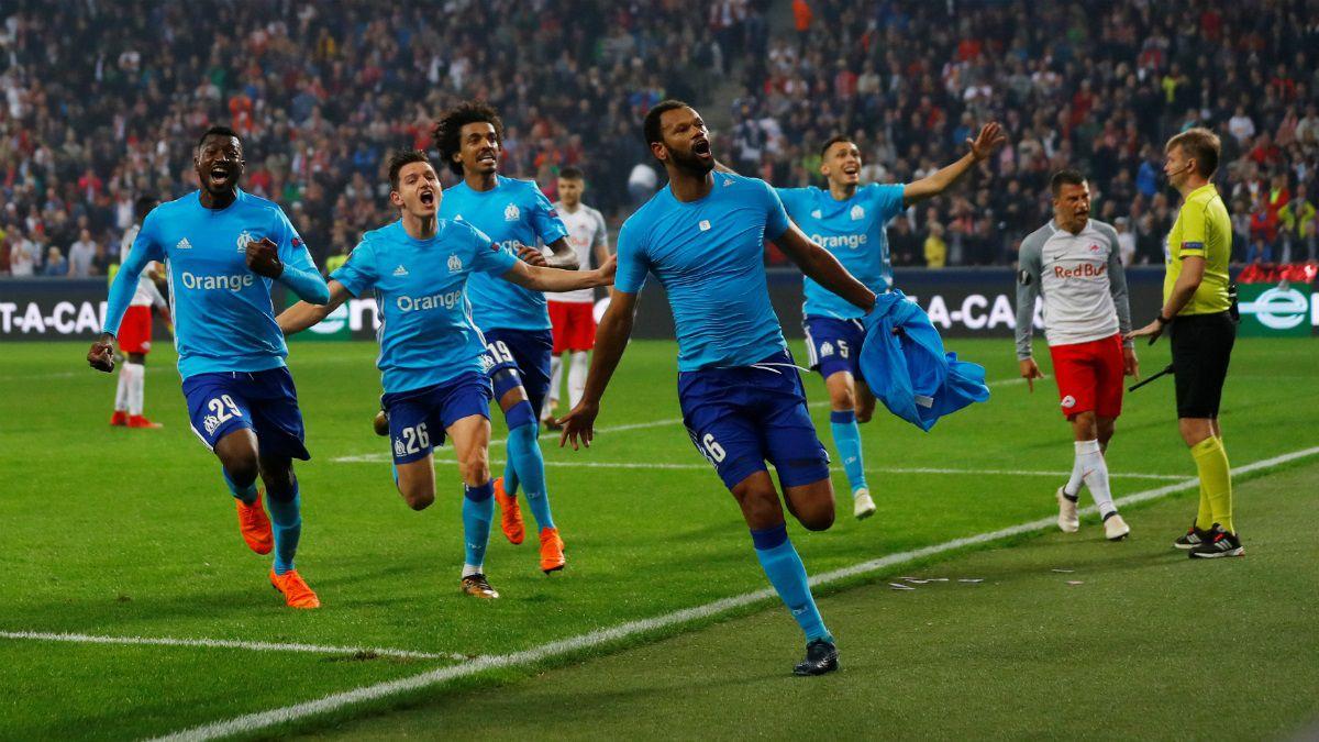 Marsella avanza a final de Europa League tras eliminar a Salzburgo con polémico gol