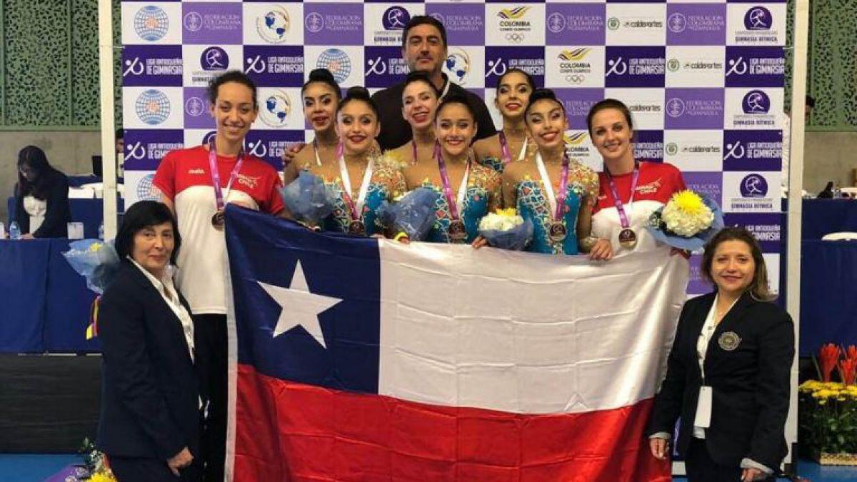 Campeonas: Chile brilla en Panamericano de gimnasia rítmica de Colombia