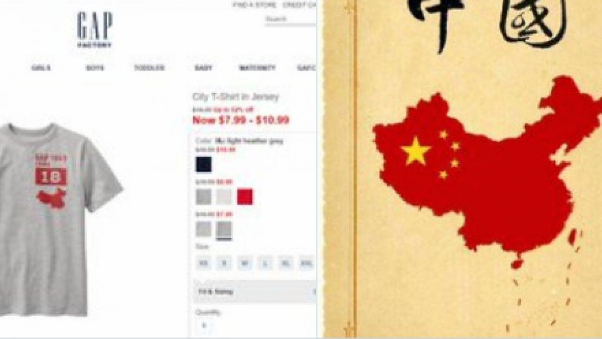 Gap se disculpa por diseño de remera con mapa de China sin Taiwán