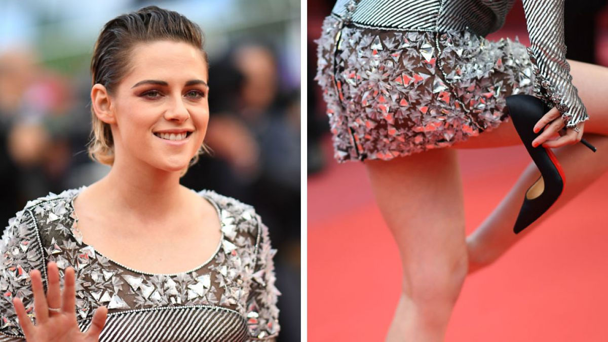 Cannes: la actriz Kristen Stewart se deshace de los tacones y camina descalza en el festival de cine