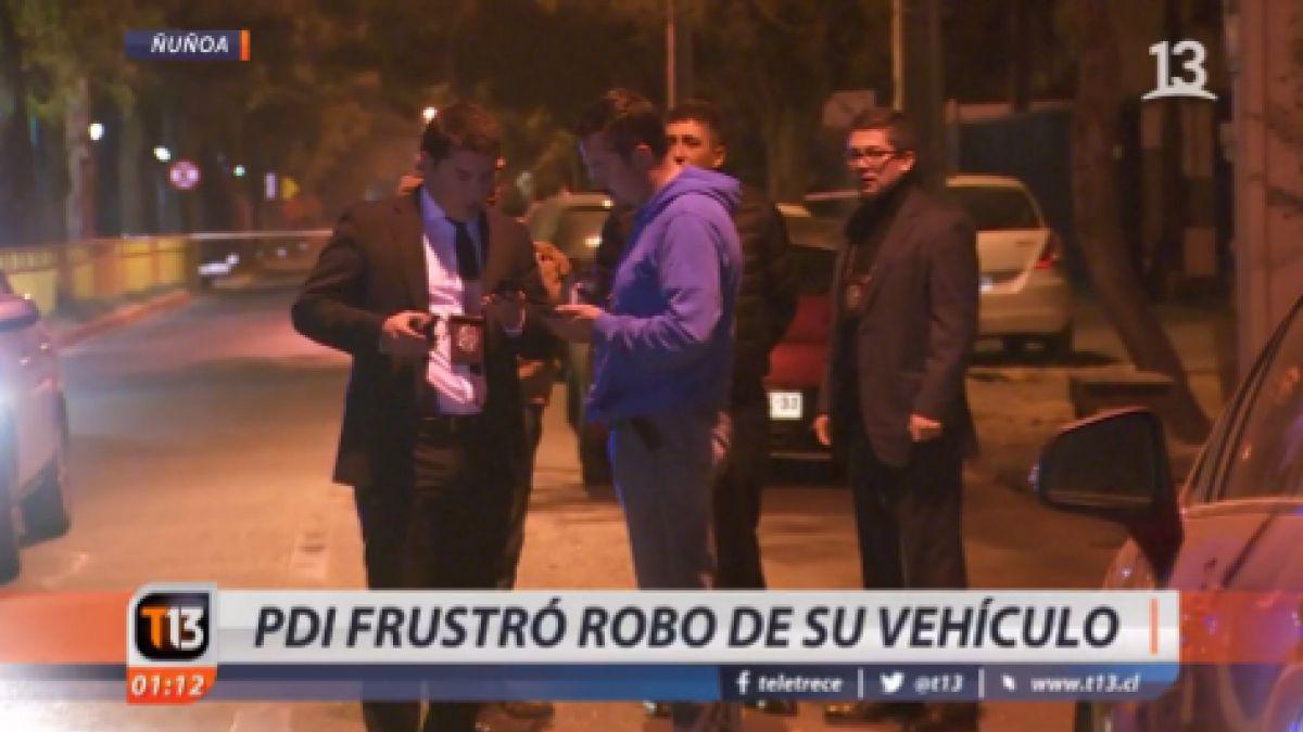 Funcionaria de la PDI frustró robo de su vehículo