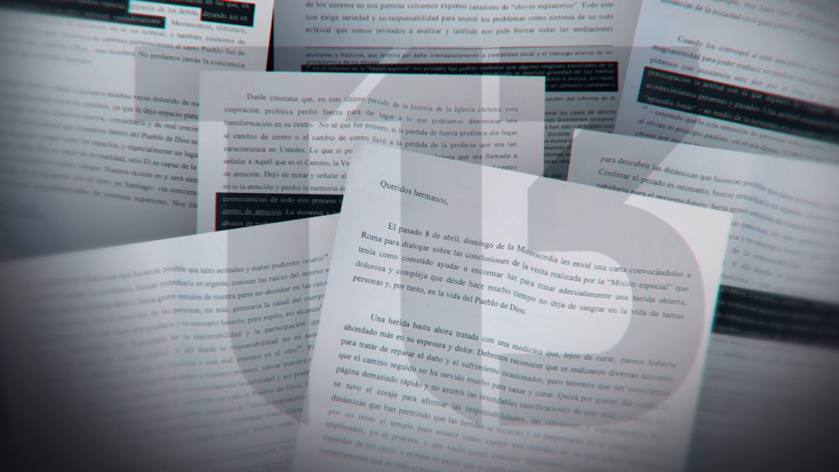 La transcripción completa del documento reservado que el Papa entregó a los obispos chilenos