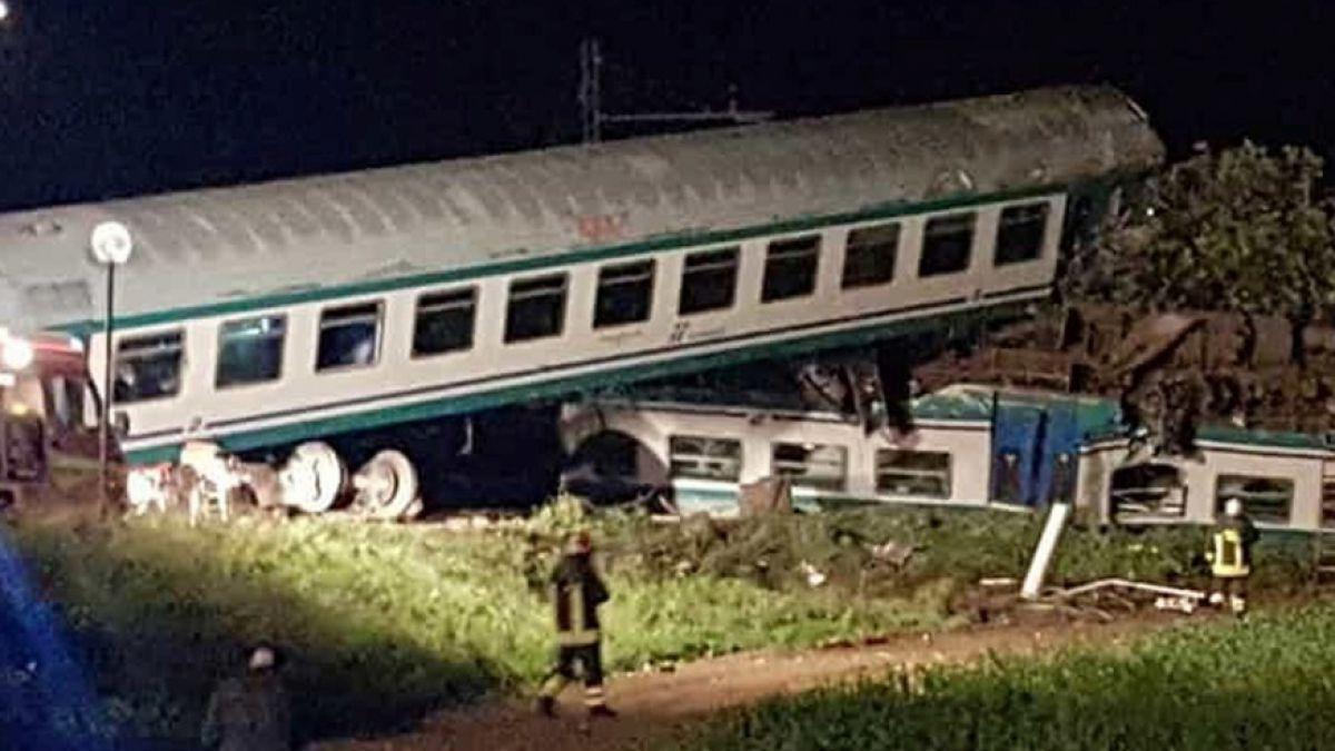 Italia: descarriló un tren, murieron al menos dos personas