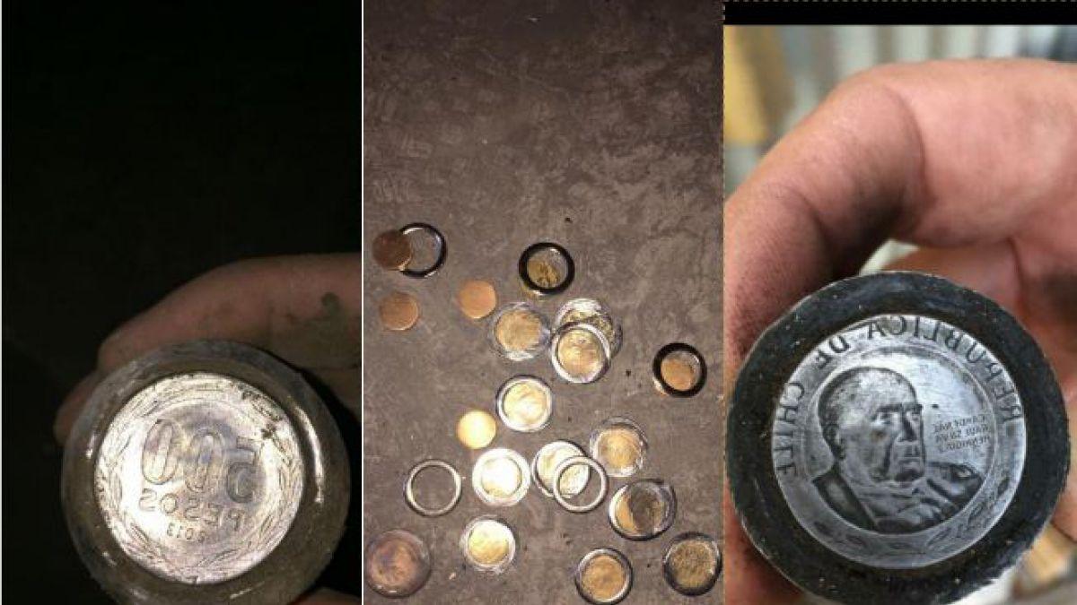 """[FOTOS] Operación """"Casa de Papel"""": Carabineros detiene a banda que falsificaba monedas de $500"""