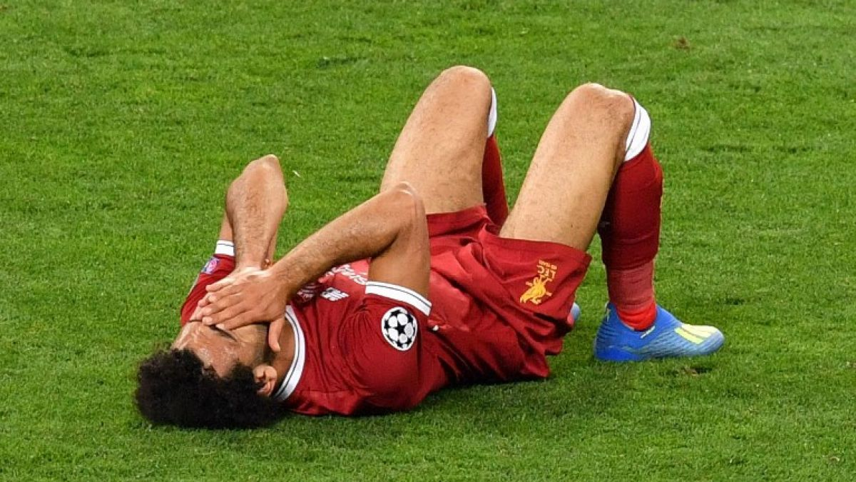 [VIDEO] La jugada que sacó a Mohamed Salah de la final de la Champions League