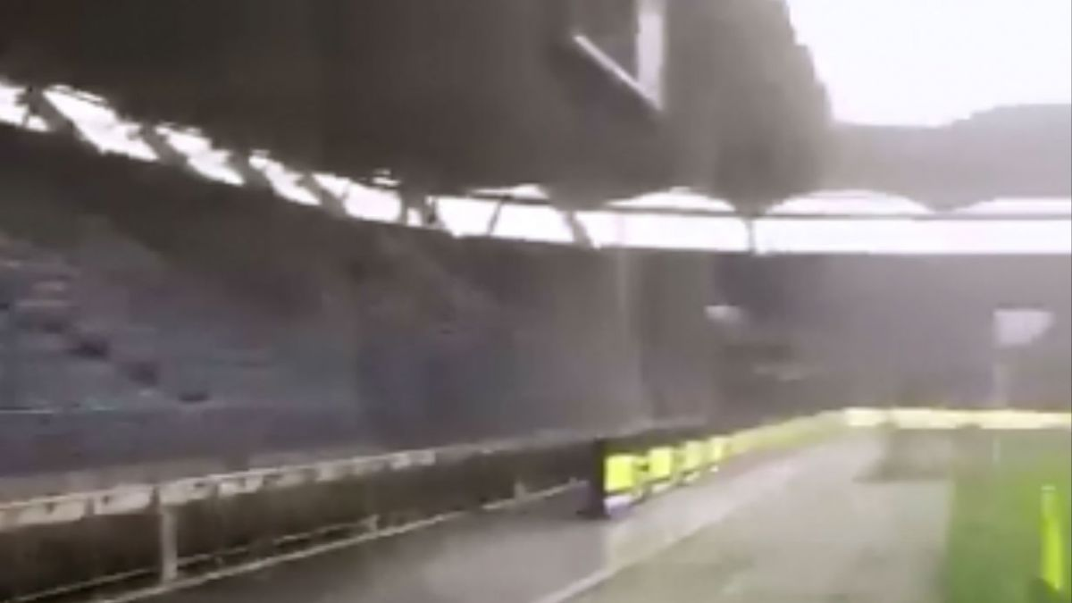 [VIDEO] Lluvia y granizo: Así está la cancha donde La Roja jugará contra Serbia