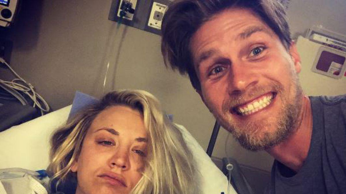 Kaley Cuoco termina en el hospital en su luna de miel