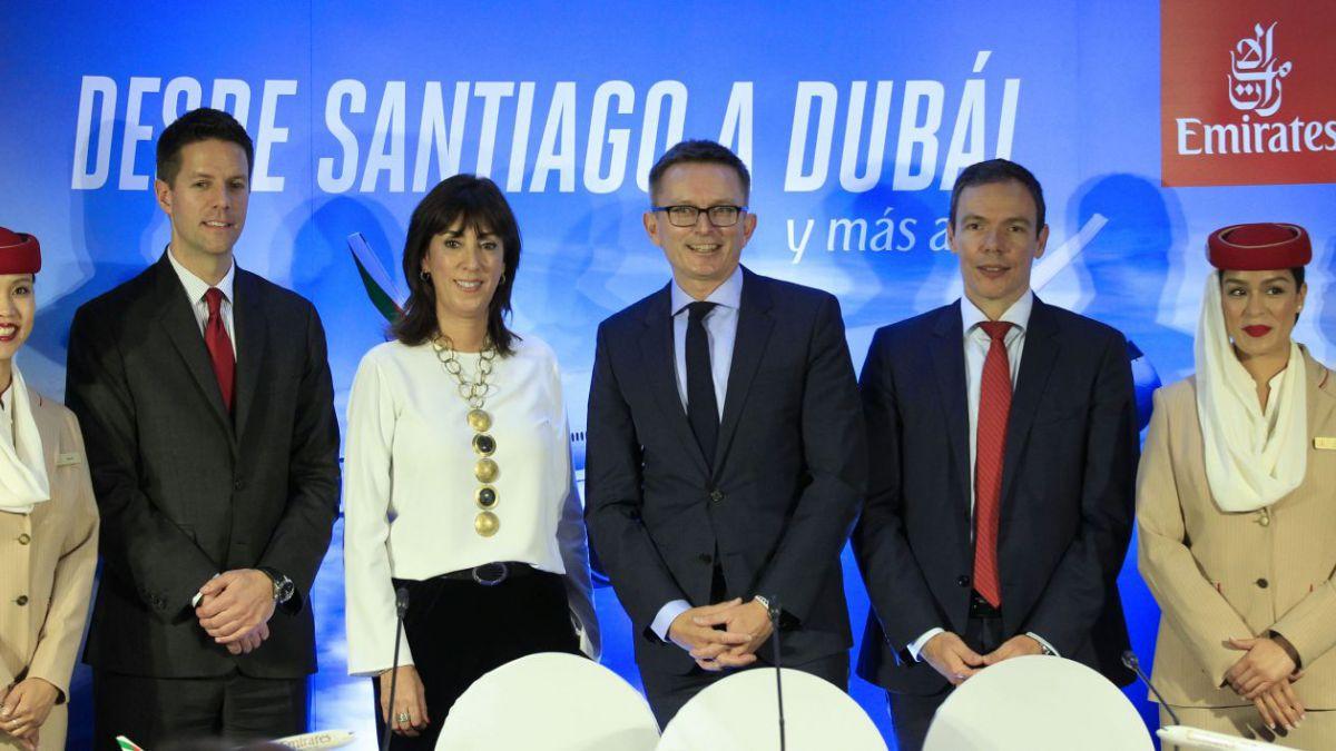 """[VIDEO] Emirates arriba a Chile: """"Esperamos traer más turismo al país"""""""