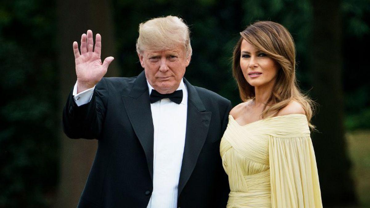 [FOTOS] El look de Melania Trump en Reino Unido es comparado con el de una princesa de Disney