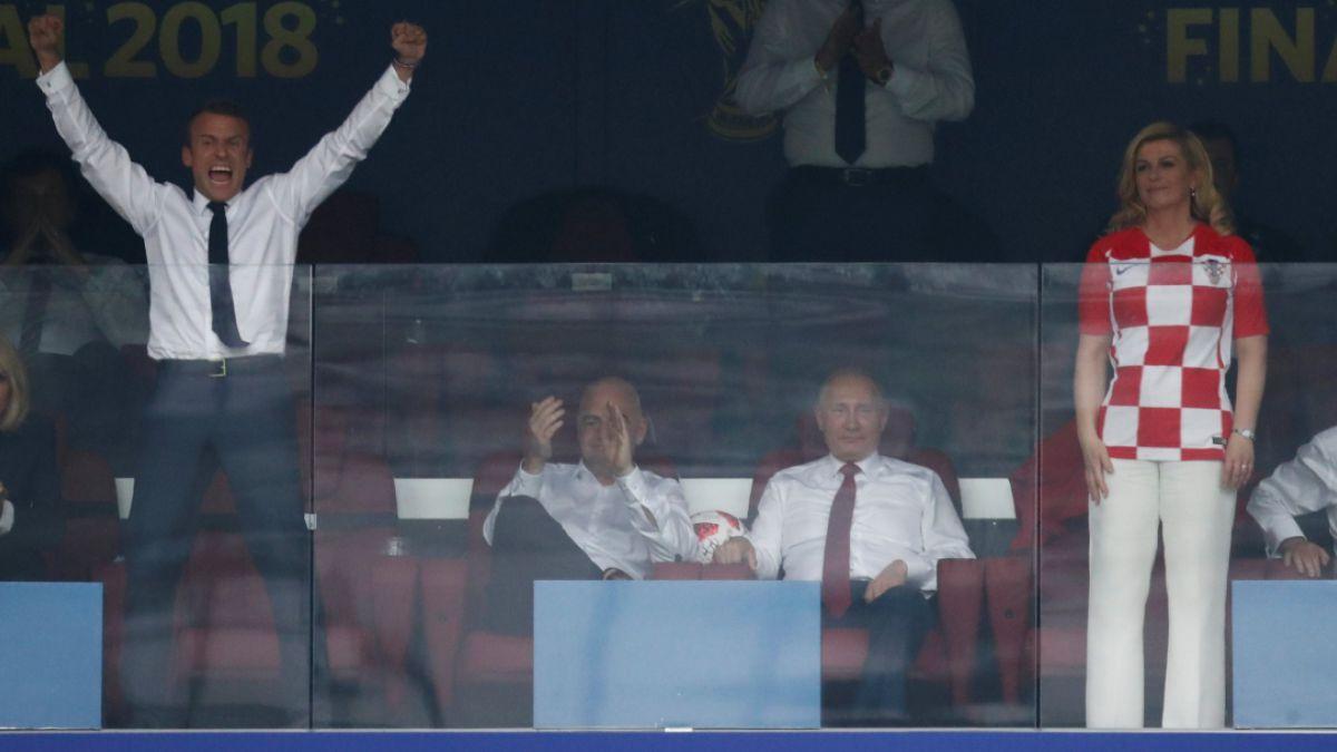 Así vivieron la final del Mundial los presidentes de Francia y Croacia