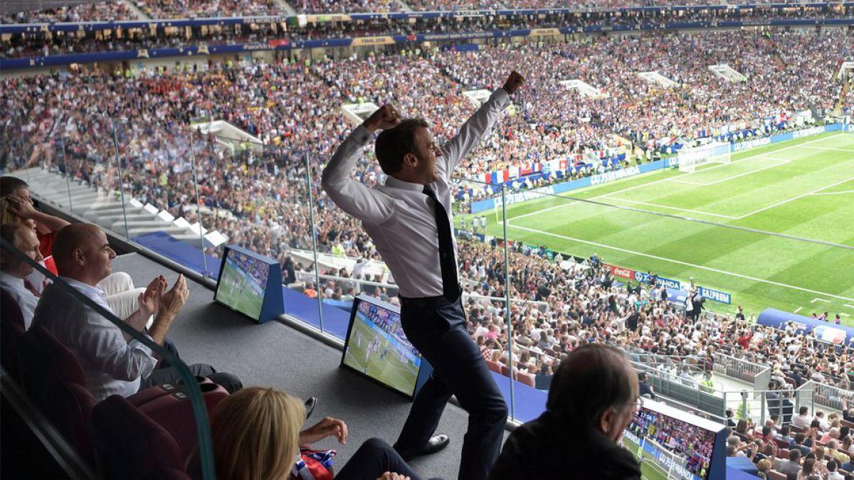 Mundial de Rusia 2018: las llamativas imágenes de Emmanuel Macron celebrando la victoria de Francia