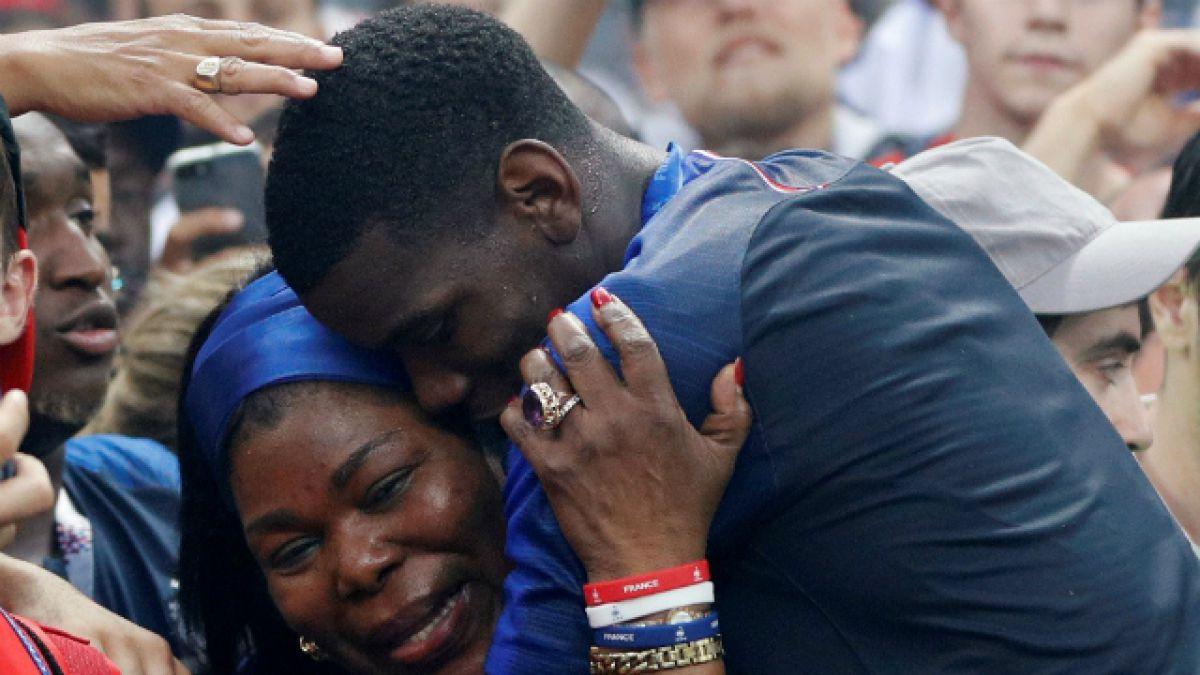 La historia de amor detrás del emotivo abrazo de Pogba junto a su madre en la final de Rusia 2018