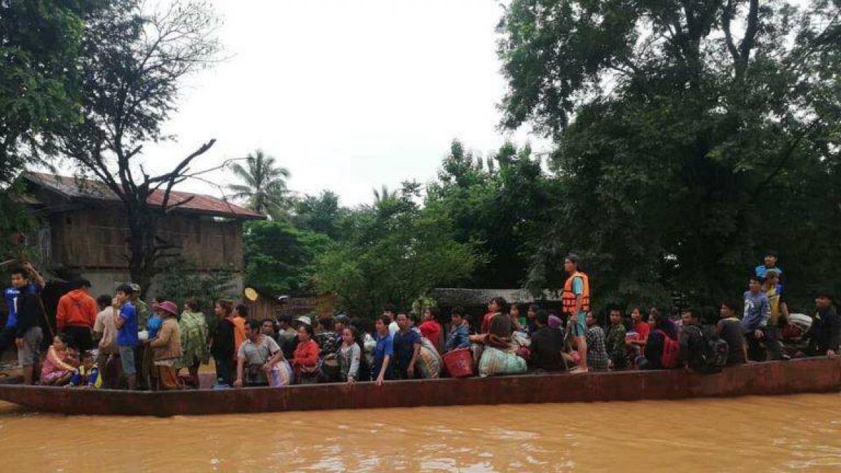 Colapsó una represa hidroeléctrica en Laos y se inundó un pueblo entero