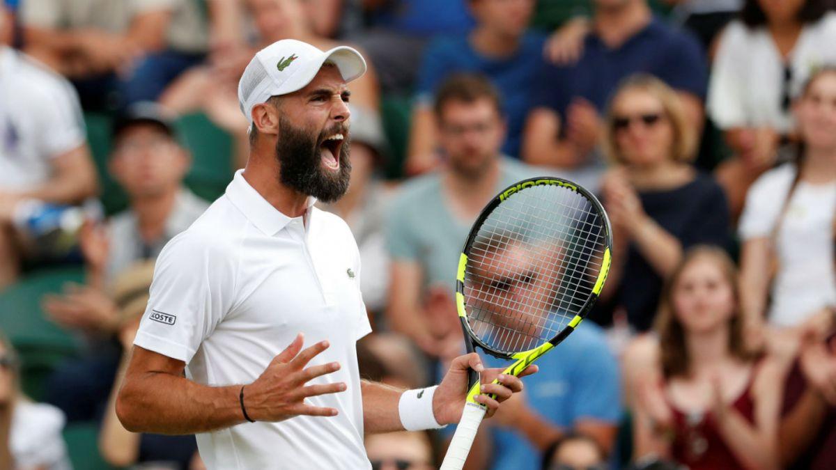 Día de furia de un tenista que rompió tres raquetas