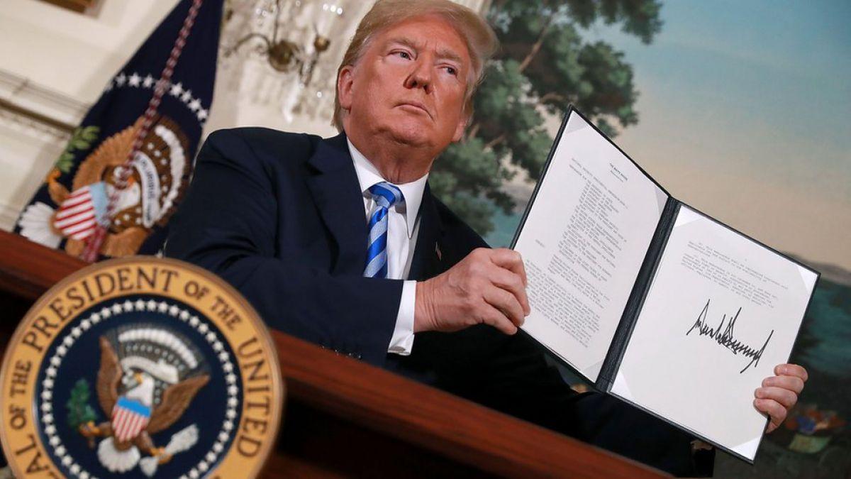 Trump reinstaura sanciones económicas contra Irán
